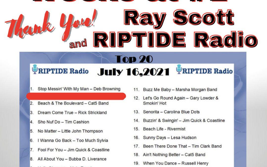 Eight Weeks at #1 on RIPTIDE Radio